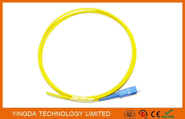 Optical Pigtail SC UPC SM Simplex 3mm 1Meter Yellow Optical  Cable LSZH G.652D
